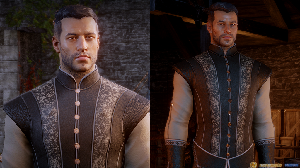 Human Male Skyhold Outfit Retextures