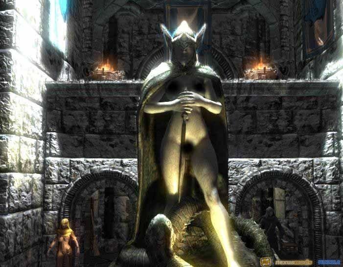 Секси ретекстура статуй скайрим